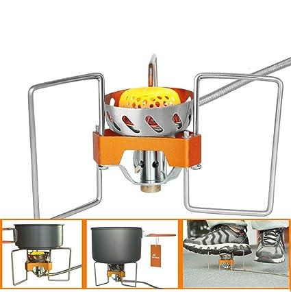 OOBY 2900W Estufa De Gas para Acampar, Estufa Plegable Dividida Estufa para Cocinar A Prueba