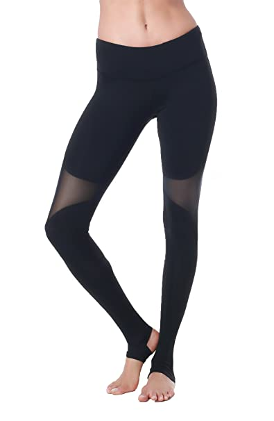 1fd713385d8 Queenie Ke Women Power Mesh High Waist Gym Yoga Leggings Wortout Running  Tights Size XL Color