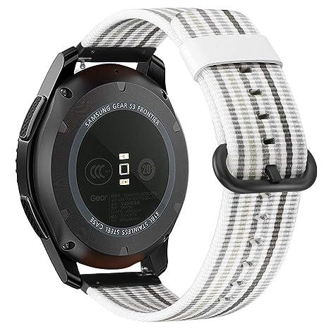 Fintie Correa para Galaxy Watch 46mm / Gear S3 - 22mm Pulsera de Repuesto de Nylon Tejido Banda Suave y Ligera para Samsung Gear S3 Classic / S3 ...