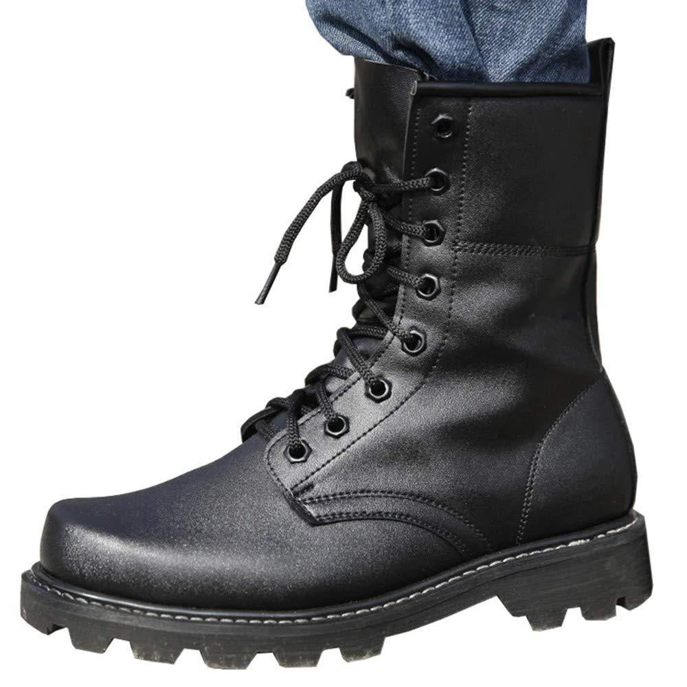 IDNG Basketballschuhe Männer Militärische Taktische Stiefel Leder Schwarz Special Force Ankle Combat Stiefel Sicherheit Arbeitsschuhe