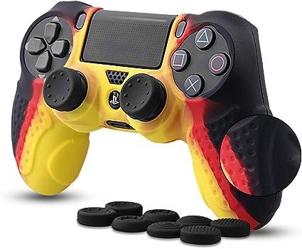 CHIN FAI PS4 Controlador Piel Cubierta de la Caja con 8 agarres de ...