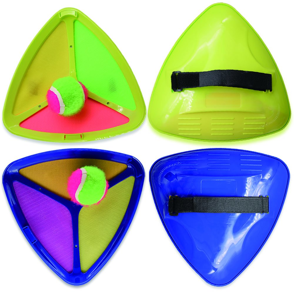 Seprovider Toss Catch velcro Ball Game with 2 Triangle Paddles 2 Balls and 1 Polyester Carry Bag Sports Game for Outside and Inside by Seprovider (Image #1)