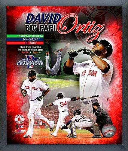 Grand Slam Framed Photo - David Ortiz Boston Red Sox 2013 ALCS Grand Slam Photo (Size: 12