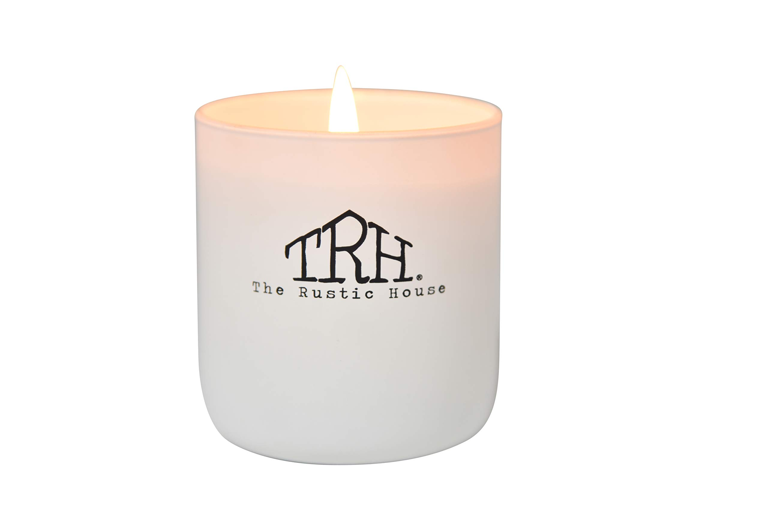 Rosewood Amber   Hand Poured   Dye + Additive Free   Environmentally Friendly   Strong Scent Throw   Soy Wax   Glass Candle   Signature Collection   The Rustic House