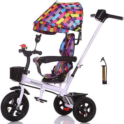 Multifuncional 4-en-1 Sports Edition Trike Triciclo infantil Kid Carrito con Anti-