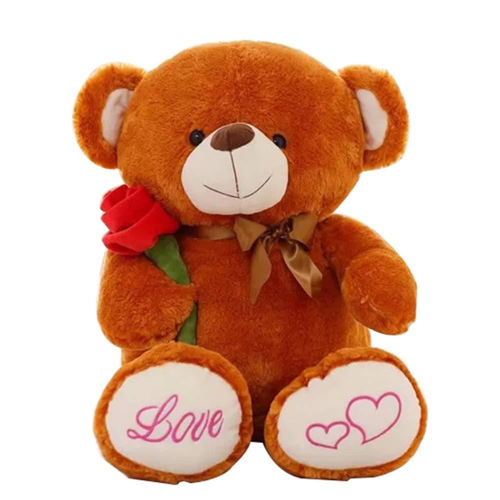 orange 80cm Toy pink Teddy Bear Plush Doll, Simulation Cute Marriage Bear Birthday Gift, Valentine's Day, Car Home Decoration 80cm  100cm ZDDAB