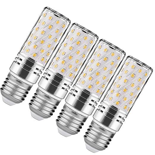 LED Maíz Bombillas LED E27 15W 3000K Luz Blanco Cálido LED Candelabros bombillas Equivalente Incandescente Bombilla 120W 1500Lm LED vela Bombillas No ...