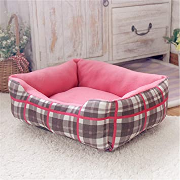 Wuwenw Lattice Dog Cat Camas para Mascotas Memory Plaid Foam Bolster Bed Sofa Pata Impresa para Large Medium Small Pet 47X38X14Cm: Amazon.es: Productos para ...