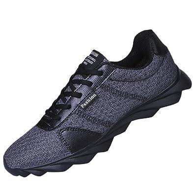brand new 9623d 9fe3a OHQ Les Chaussures De Sport Respirantes Occasionnelles La Mode des Hommes  Maille Course Amortissantes Vert Noir
