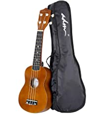 ADM, 4-String Ukulele, Right Handed 21 Inch Soprano Wood Beginner Ki