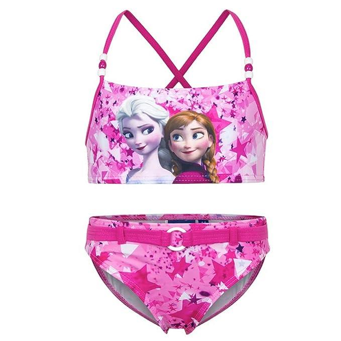 c2db2e5e3 Disney Princess Frozen - Bikini Traje de baño de 2 piezas - para niña -  ER1869 [Rosa - 4 años - 104 cm]: Amazon.es: Ropa y accesorios
