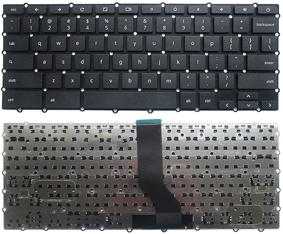 Laptop Keyboard New US Black English Laptop Keyboard (Without palmrest) for Acer Chromebook 11 R11 CB5-132 CB5-132T CB5-132T-C7R5 CB5-132T-C8ZW