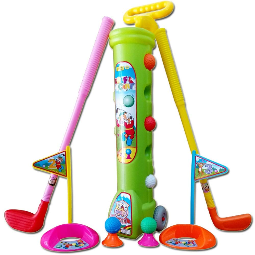 Golf Toys Set Deluxe 3 Types of Clubs Kid's Toy Golf Set 5 Golf Balls 2 Practice Holes, Perfect Golf Set for Children Outdoor Indoor Exercise Toy (Color, Size : 601614cm) by JIANGXIUQIN-Toy