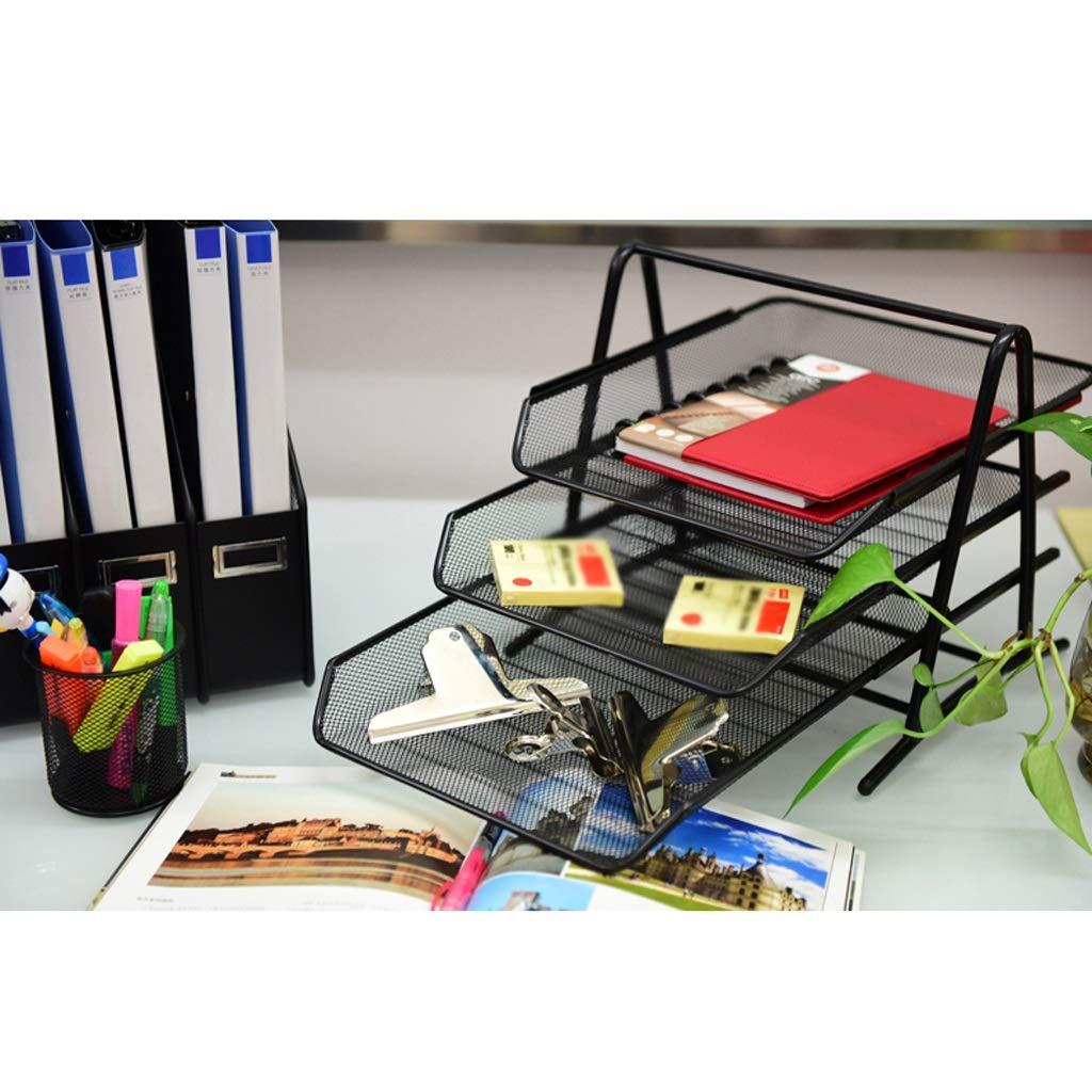 LCSHAN Gabinete de Archivos de Escritorio Superficie de Escritorio de Creativa Gabinete de Escritorio Datos de Documentos Multicapa Multifunción (Color : Negro) 508dde