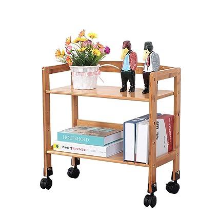 carritos y Libros Estantes gen/éricos con Ruedas y estantes de Doble Cara para Libros