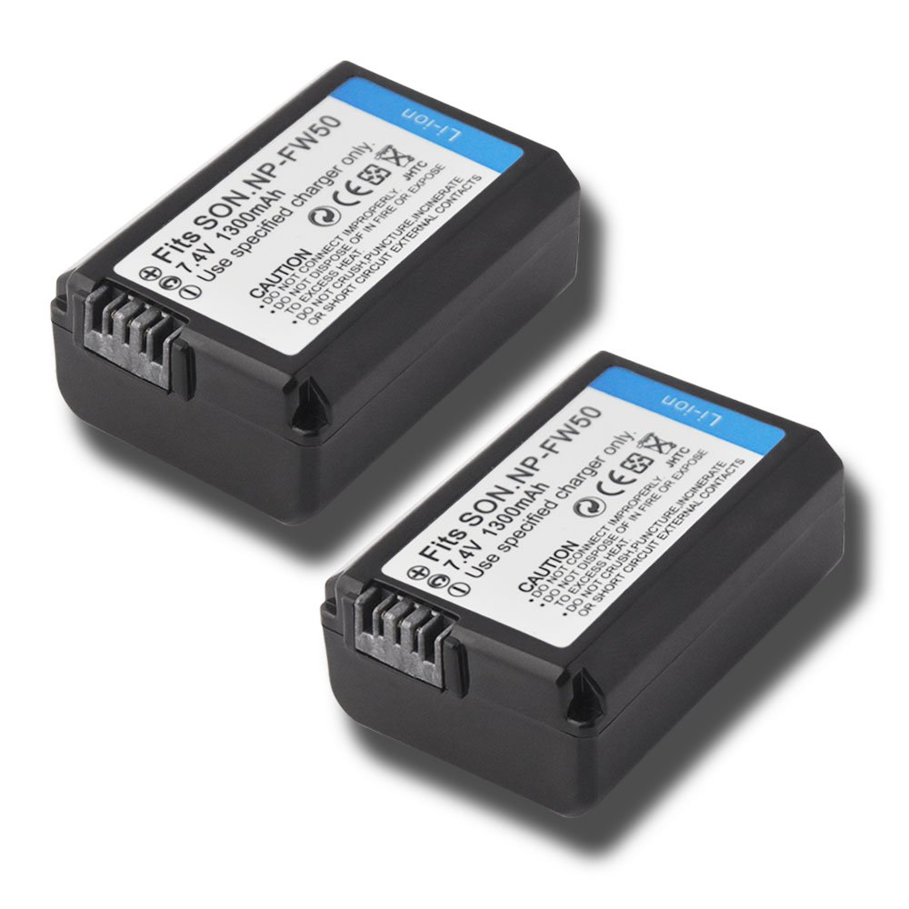 Np Fw50 Battery 2 Pack For Sony Alpha 7 A7 Wasabi Power 7r A7r A3000 A5000 A6000 Nex 3 3n 5 5n 5r