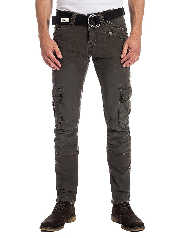 Timezone Men's Benitotz Slim Cargo Pants Incl. Belt Trousers