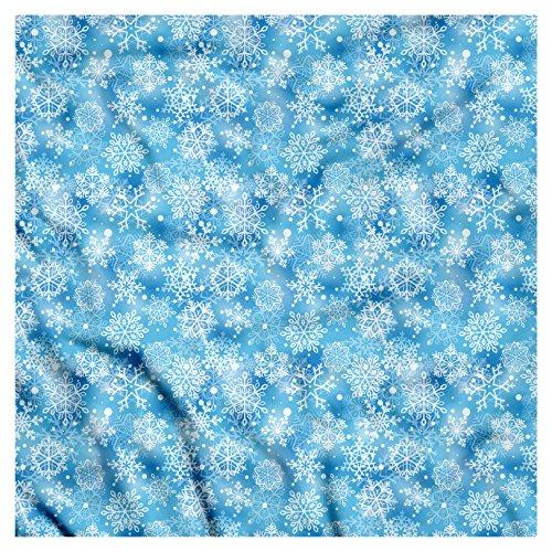 Snowflakes Bandana (Ambesonne Snowflake Bandana, Pattern of Winter, Unisex Head and Neck Tie)