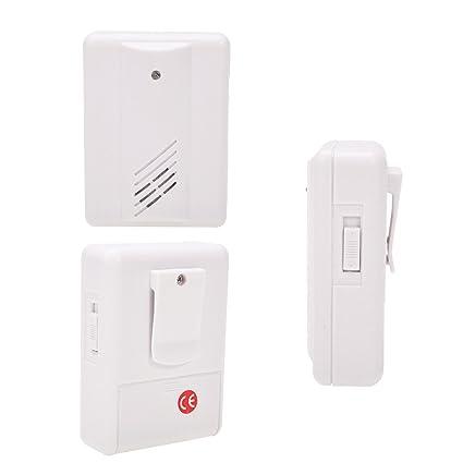gzgigza® Bienvenido timbre de puerta automática Bell puerta eléctrica guardia/mando a distancia inalámbrico