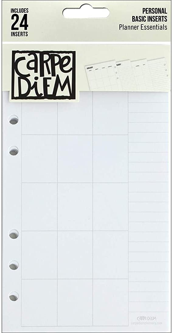 Carpe Diem Beautiful Double-Sided Personal Planner Inserts Monthl 816502024778