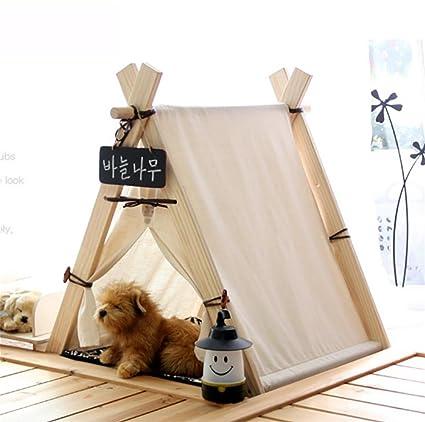 DIAMO Teepee para Mascota, Cama para Perros extraíble y Lavable Pet Play Tent House para