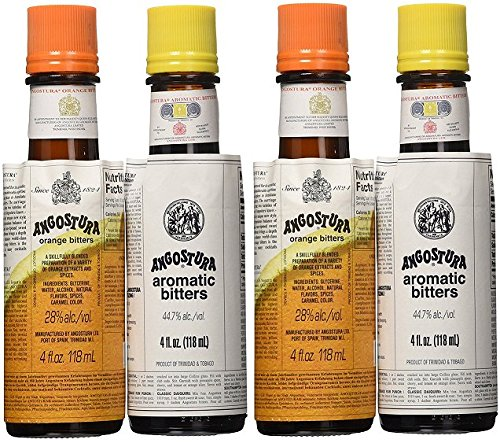 Angostura Aromatic Cocktail Bitters (Angostura Bitters Set (Pack of 4))