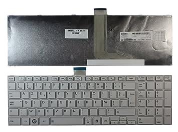 Toshiba mp-11b56 F0 - 5281 blanco marco blanco Layout francesa teclado para ordenador portátil (PC) de repuesto: Amazon.es: Informática