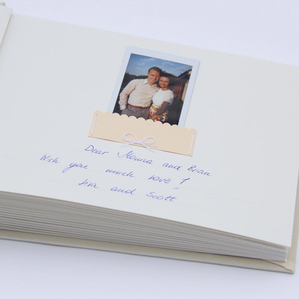 Wedding Photo Album Guest Book Ivory Garden Color