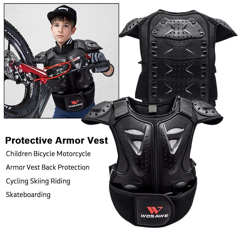 rethyrel Moto Armure Gilet Enfants Bicyclette Gilet Retour Veste De Protection Absorbant Les Chocs Moto Protecteur De Poitrine pour Le Ski Riding Skateboard