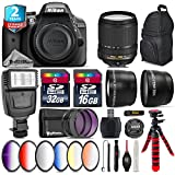 Holiday Saving Bundle for D3300 DSLR Camera + 18-140mm VR Lens + 6PC Graduated Color Filer Set + 2yr Extended Warranty + 32GB Class 10 Memory + Backpack + 16GB Class 10 - International Version