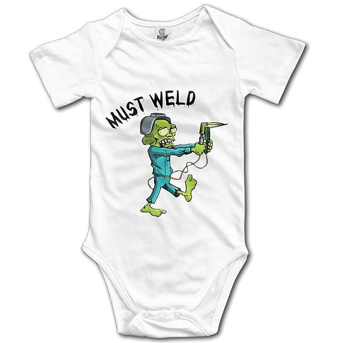 Novedad debe soldadura casco de soldadura soldador Zombie gracioso bebé Onesie una pieza Bodysuit - Blanco - : Amazon.es: Ropa y accesorios