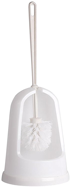 Escobilla de inodoro semi cerrada con soporte abierto, plástico blanco para baños COTTAM CHB00032