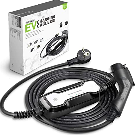 Cargador tipo 1 Nissan e-nv200 UK 3 Pin Enchufe 5m Ev Cable de carga