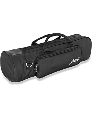 Flexzion Senior Trumpet Gig Bag Case Durable Soft Nylon Padded Portable Instrument Accessory with Double Zippers