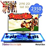 ElementDigital Arcade Game Console 1080P 3D & 2D Games 2350 in 1 Pandora's Box Metal Box with Dream Color LED Lights 2 Players Arcade Machine with Arcade Joystick Support Expand 6000+ Games