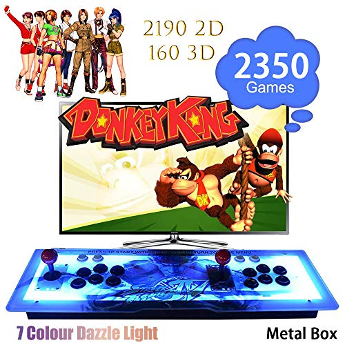 ElementDigital Arcade Game Console 1080P 3D & 2D Games 2350 in 1 Pandora's Box Metal Box with Dream Color LED Lights 2 Players Arcade Machine with Arcade Joystick Support Expand 6000+ Games by ElementDigital (Image #7)