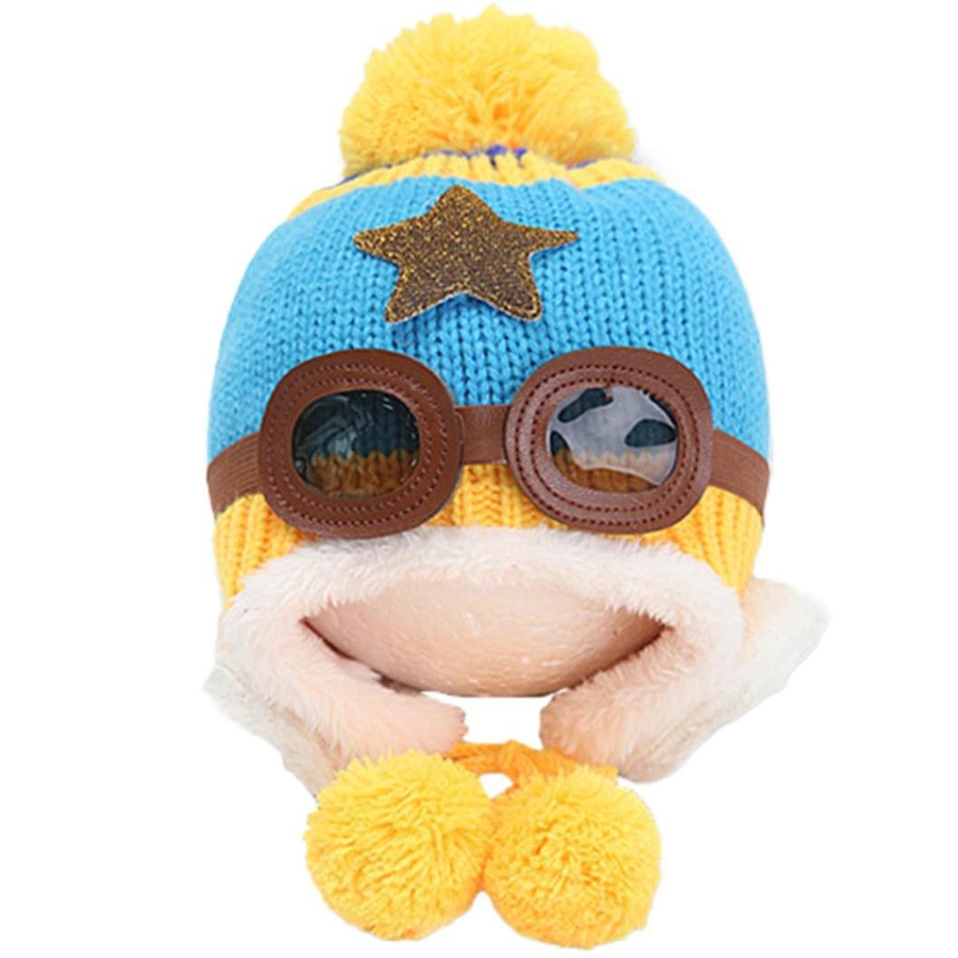 Allywit Baby Earflap Toddler Girl Boy Kids Pilot Aviator Cap Warm Soft Beanie Hat