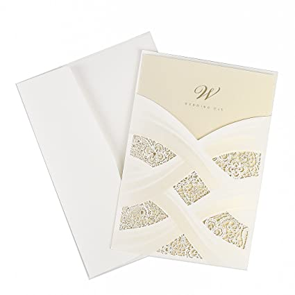 25 pieces laser cut embossed invitations kit wedding bridal shower invitation baby shower engagement birthday