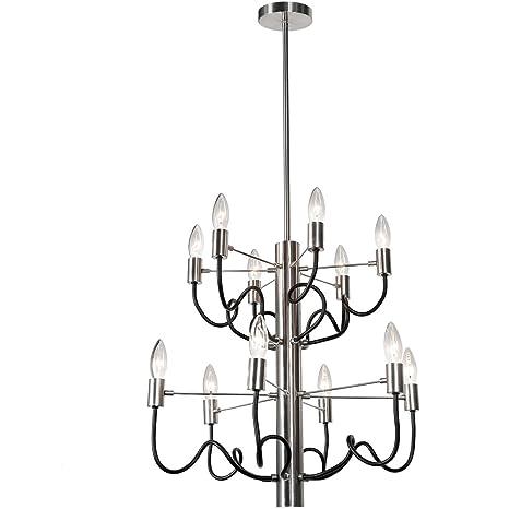 Amazon.com: Chandeliers - Lámpara de techo (12 unidades ...
