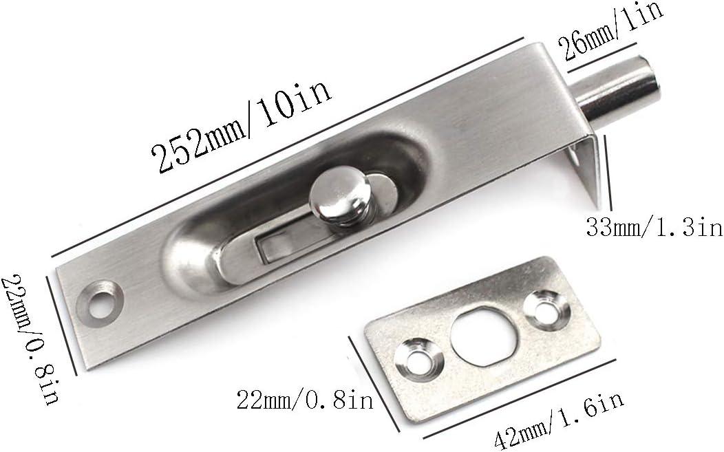inklusive Schrauben Packung-mit-2 10 Verdeckte T/ürriegel f/ür unsichtbaren T/ürschutz aus rostfreiem Stahl