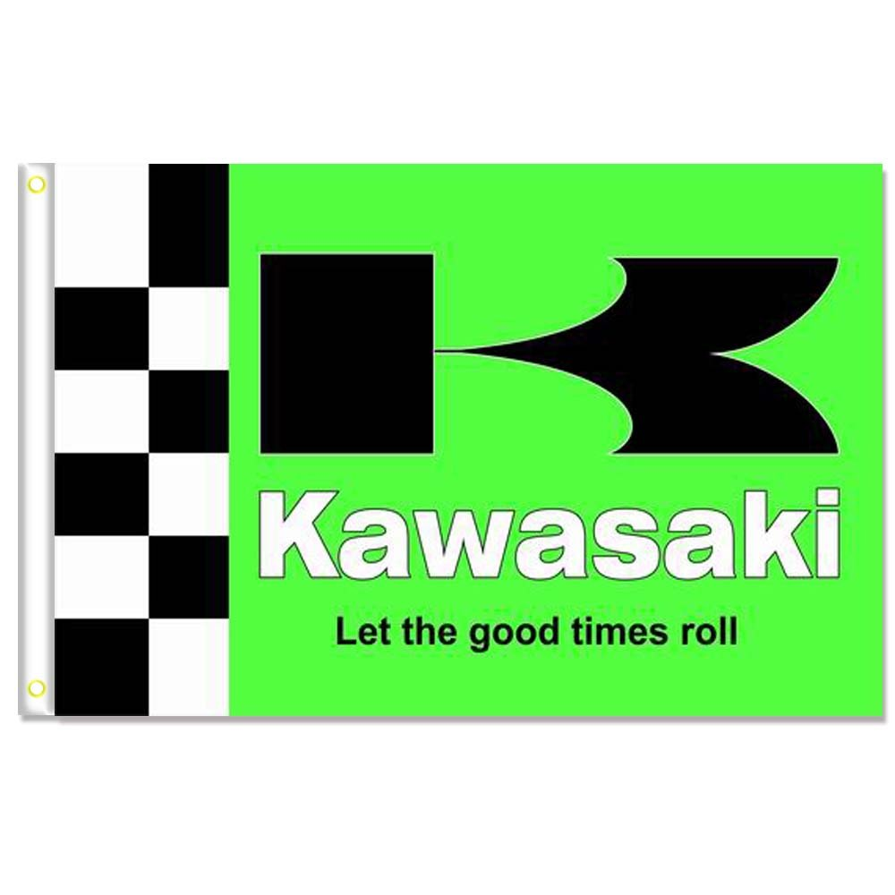 Home King Kawasaki Flag Banner 3X5FT 100% Polyester