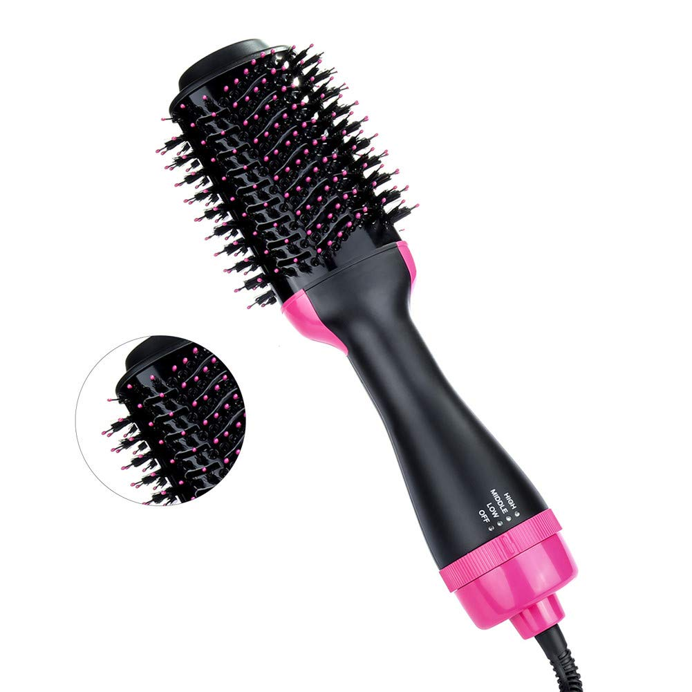Hair Dryer Brush Multifunctional Hot Air Straightener Comb with Negative Ions Reduces Frizz and Static for Home and Salon Straight