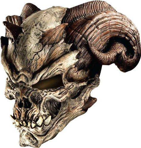 Mens Halloween Masks (Rubie's Costume Co Cave Demon Latex Mask Costume)