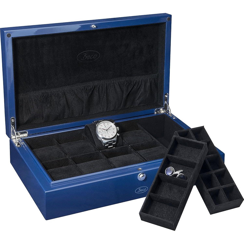 BECO BLUE Uhrensammlerbox fÜr 8 Uhren und Schmuck