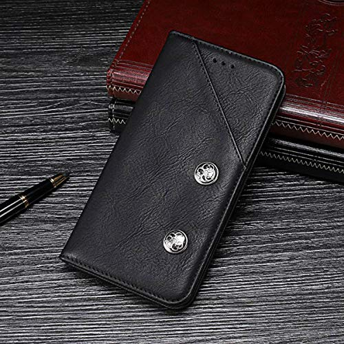 Torubia Flip Case for Xiaomi Redmi Y3,Premium Leather Zipper Wallet Multifunctional Removable Card Slot Pocket Pouch Flip Protective Cover for Xiaomi Redmi Y3 - Black ()