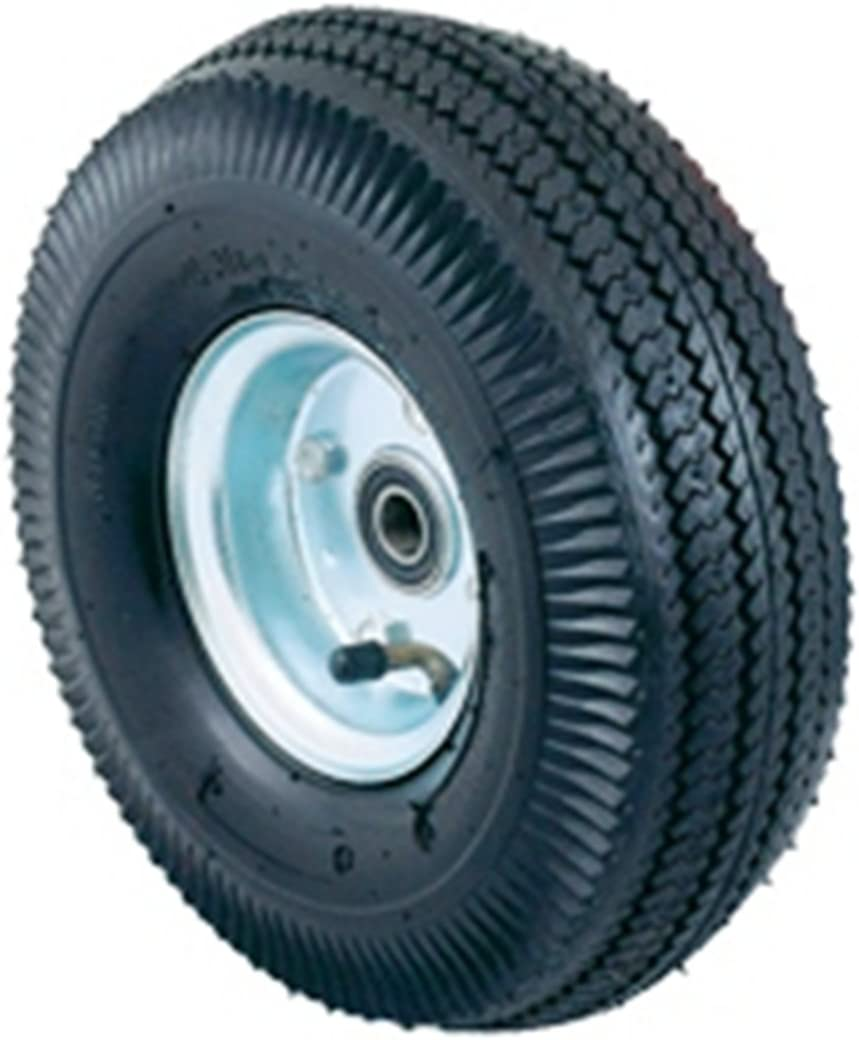 "Harper Trucks Pneumatic Hand Truck Wheel with Ball Bearings and Steel Hub, 10"" Diameter x 3-1/2"" Wide"