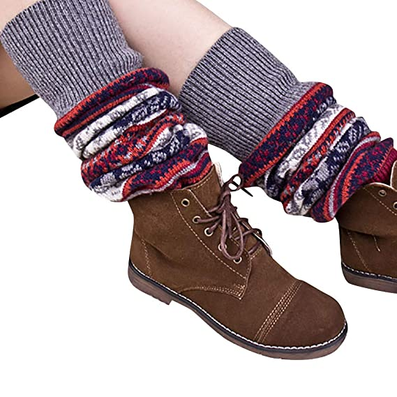 DEELIN Calcetines Mujer Cable De Invierno Punto Sobre La Rodilla Bota Larga Muslo-Alto Calcetines Calientes Legging Calcetines Arte: Amazon.es: Ropa y ...