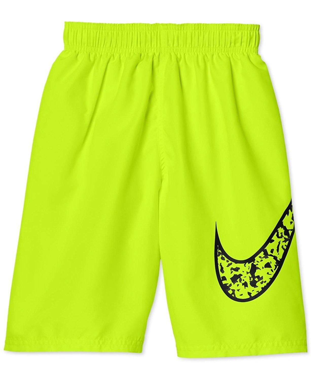 Nike Boy's Core Swoosh 9'' Swim Trunks L Volt