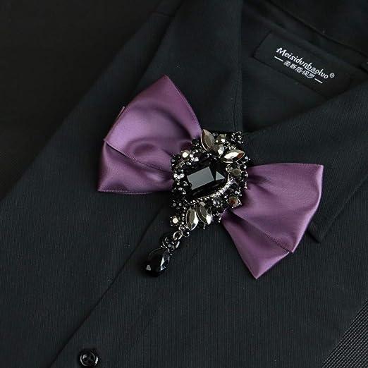 Cinta Diamond Flower Pajarita Hombre De Traje Vestido Brooch Tuxedo Collar De La Camisa Bow Pajarita Novio Boda Música Tie: Amazon.es: Hogar