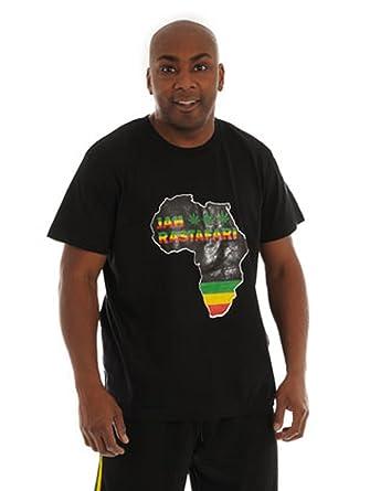 Jah Rastafari le T-shirt AFRICAIN - NOIR  Amazon.fr  Vêtements et ... 9ae2a28cf2d